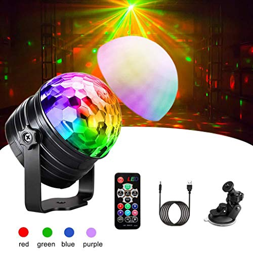Discobol, mini-led-kleurrijke projectie-licht-afstandsbediening, kleine magische bol-stadiumlamp, DJ, Voice Control-Licht-flits-party-kerstlamp, disco stage light A1