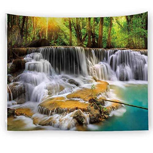 Paisaje natural paisaje gris bosque de niebla tapiz tapiz de pared tapiz de pared revestimiento de pared tapiz psicodélico A14 130x150cm
