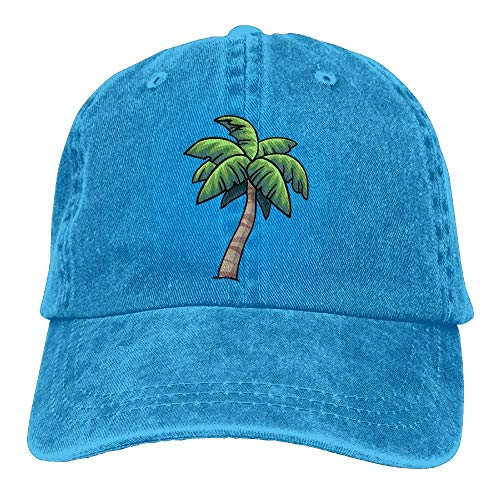 Preisvergleich Produktbild AOHOT Herren Damen Baseball Caps, Hüte,  Mützen,  Classic Baseball Cap,  Unisex Baseball Cap Denim Hat Tropical Palm Tree Adjustable Snapback Glacier Cap