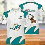 NFL T-Shirts Super Bowl Miami Dolphins Maillots Football Américain Polo Hommes Chemises pour Hommes Et Femmes-T-Shirt Rugby Football Supporters-Fans De Football Unisexe-Cadeaux Ados M