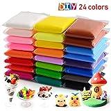 24 couleurs argile sèche à l'air, argile de modélisation ultra légère, QMay Magic Clay artiste Studio jouet, pâte à modeler non-toxique et pâte, Art créatif bricolage Artisanat, cadeau pour les enfant