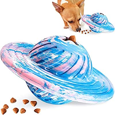 Interactive Dog Toys IQ Treat Ball Food Dispensing Puzzle Toy for Medium Large Dogs Playing Chasing Chewing