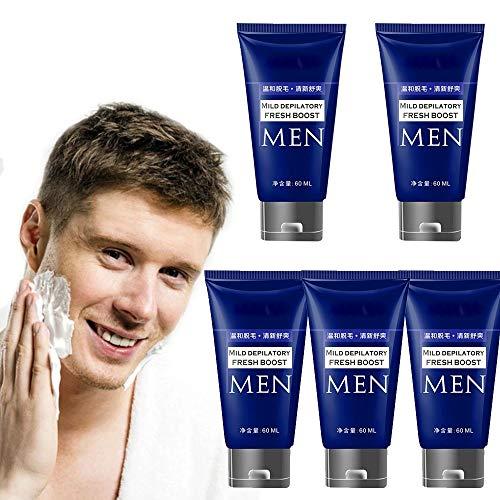 DFRY 1/3/5 Pcs Mens Bartentfernungscreme Haarentfernungscreme Rasiermesserlose Rasiercreme für weniger Rasur Schont die Haut und empfindliche Bereiche (5)