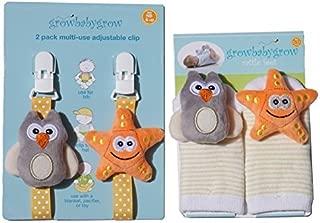 Growbabygrow Newborn Baby Rattle Feet Socks
