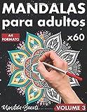 Mandalas para adultos: 60 motivos con fondo negro en formato A4 / de mandala simple a complejo con efecto antiestrés / libro para colorear con páginas ... para adultos -Volume 3 (Back in Black)