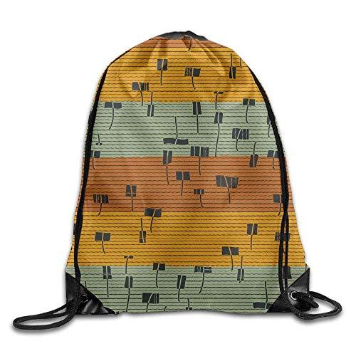 uykjuykj Bolsos De Gimnasio,Mochilas,Drawstring Bag Gym Bag Travel Backpack, Geometric Figure Stripes, Gym Bags For Women Men Adults Black 6 Lightweight Unique 17x14 IN