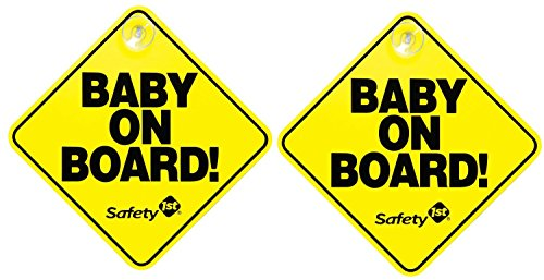 safety 1st baby on board sign - 2