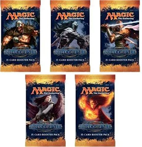 5 (Five) Packs of Magic the Gathering MTG  M14 Corre Set 2014 Booster Pack Lot (5 Packs) by Magic  the Gathering