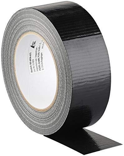 AGT Gewebeklebeband: Reißfestes Gewebe-Klebeband, 48 mm breit, 0,17 mm dick, schwarz, 50 m (Panzerband-Gewebeband)