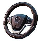 [新しいドレス] 軽自動車&普通車兼用ハンドルカバ- 触感よく、汚れ防止、滑り防止ハンドルカバー 直径38cm 適応サイズ:37-38㎝ (ブラックオレンジ)