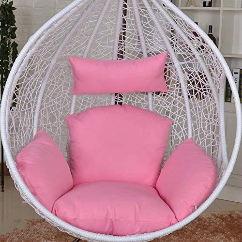 Cuscino da giardino Cuscini per sedie lavabili a forma di uovo a forma di uovo, colore solido senza staffa cuscino per sedile esterno per giardino da letto da letto-D . Cuscini esterni ( Color : D )