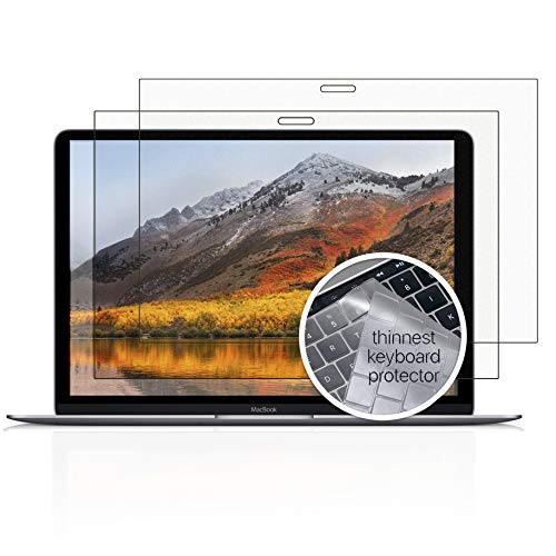 Homy Screen Protector Kit [2-Pack] for MacBook Pro 13 inch 2016-2019: 1x Matte (Anti-Glare), 1x Glare. Bonus: Ultra-Thin TPU Keyboard Skin Cover. for Apple Computer A1706 A1989 A2159 Touch Bar A1708.