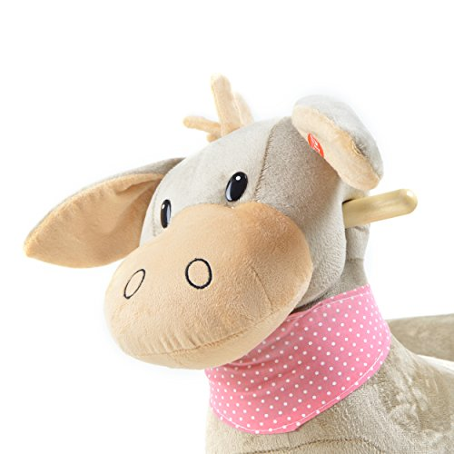Pink Papaya Schaukeltier – Esel Pepe – Kinder und Baby Schaukelpferd, spezieller Schaukelstuhl für Kinder, mit Sound, Kopfhöhe ca. 50 cm, Sitzhöhe ca. 30 cm - 3
