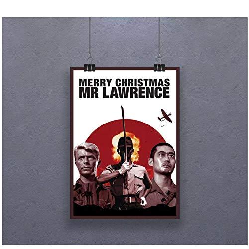 Qqwer Feliz Navidad Mr Lawrence Canvas War Película Impresión De Imagen Cartel De Personaje Famoso Decoración Para El Hogar Pinturas Arte De La Pared -50X70Cmx1Pcs -Sin Marco