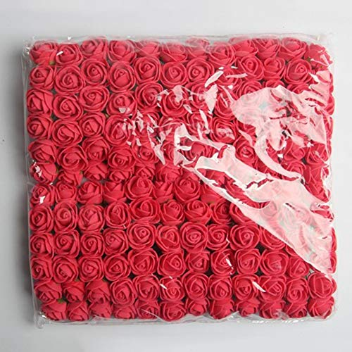 Carry stone 144 stücke 2 cm Pe Rose Schaum Mini Blumenstrauß Einfarbig / Hochzeitsdekoration Weinrot Künstliche Blumen