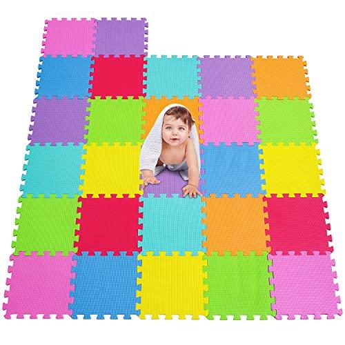 MSHEN 27 TLG. Puzzlematte Spielmatte Kinderteppich Spielteppich Schaumstoffmatte Kinder Matte...
