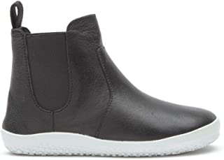 Vivobarefoot Fulham Rubber, Kids Slip on Boot in a Chelsea Boot Welly Style Black