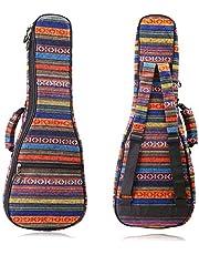 CAHAYA Funda Ukelele Soprano 21 Pulgadas Bolsa Acolchada Ukelele con Correas de Relleno de 9 mm Estilo Bohemio Vintage
