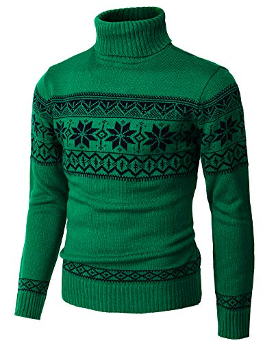 H2H Mens Casual Slim Fit Knit Cardigan with Double Shawl Collar Green US M/Asia L (CMOSWL012)