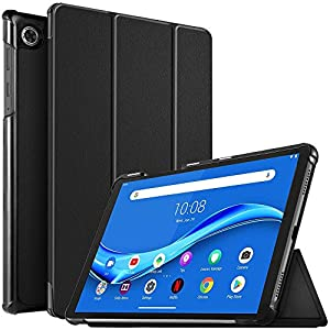 IVSO Cover Case for Lenovo Tab M10 Plus, Slim PU Cover Case for Lenovo Tab M10 Plus TB-X606F, Black