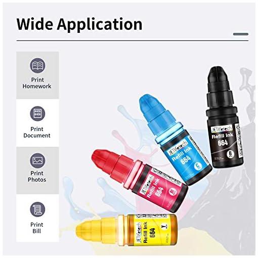 JETlifetech 664 Cartuchos de tinta Reemplazar Epson EcoTank T664 T6641 T6642 T6643 T6644, Epson 664 Botellas de tinta… 7