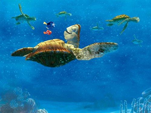 1art1 Findet Nemo - Crush Und Seine Schildkröten-Freunde, 4-Teilig Fototapete Poster-Tapete 360 x 255 cm