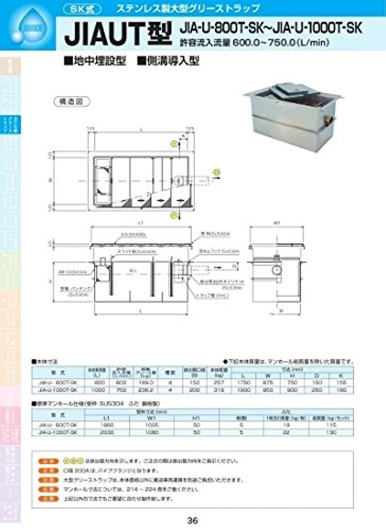 作成するアスペクト曲げるJIAUT型 JIA-U-800TSK 耐荷重蓋仕様セット(マンホール枠:ステンレス/蓋:溶融亜鉛メッキ) T-6