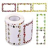 Gobesty Étiquettes de pot de confiture, 500 étiquettes auto-adhésives de confiture de PCS rectangle belles étiquettes de bouteille de conception de fruits pour la cuisine, cadeaux de confitures