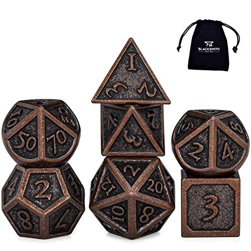 Blacksmith Craft Dice - Polyhedrische & Rollenspiel-Würfel in Burnished Bronze, Größe Regular