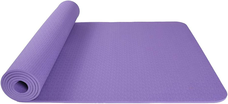 Premium-übung Yoga Matte TPE 6mm dick - Fitness Aerobic Fitness Pilates Camping Matte 185 x 66 cm