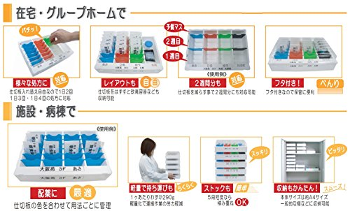 お薬管理ケースおくすり仕分薬BWC-28【大同工業】【薬ケース・薬分け】