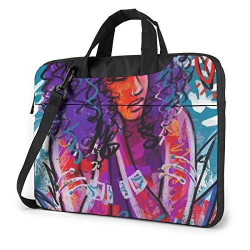 Portable Laptop Bag Sleeve Briefcase Beautiful Exotic Woman Laptop Sleeve Case 15.6 Inch Computer Tote Bag Shoulder Messenger Briefcase