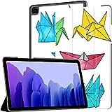 Funda para Samsung Galaxy Tab A7 Tablet de 10,4 Pulgadas 2020 (sm-t500 / t505 / t507), Origami Hand Drawn Vector Set Funda de Soporte de Varios ángulos de Acuarela con activación/suspensión automát