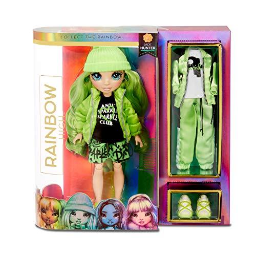 Rainbow High Muñeca de Moda - Jade Hunter Muñeca en Verde con Conjuntos Elegantes,...