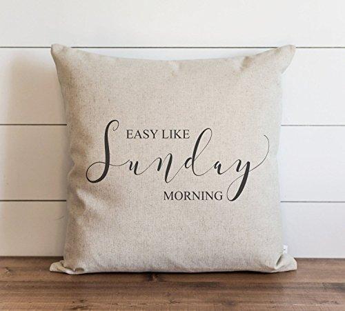 CAROLJU Funda de cojín de 45 x 45 cm, diseño de león Richie con texto en inglés Easy Like Sunday Morning