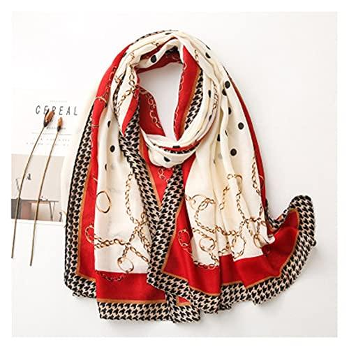 ZZLLFF Bufanda Mujeres de Lujo chales y envolturas largas Borla Hembra Foulard Pashmina Bandana Retro Moda impresión ullard Luxe chales (Color : 6, Size : 90 * 180cm)
