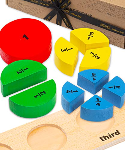 Jaques of London Fractions Puzzle Montessori Toy – Let's Learn Fractions Wooden Toys – Perfect Educational Toys – Since 1795