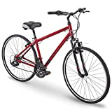 700c Royce Union RMY Mens 21-Speed Hybrid Comfort Bike, 17' Aluminum Frame, Metallic Red