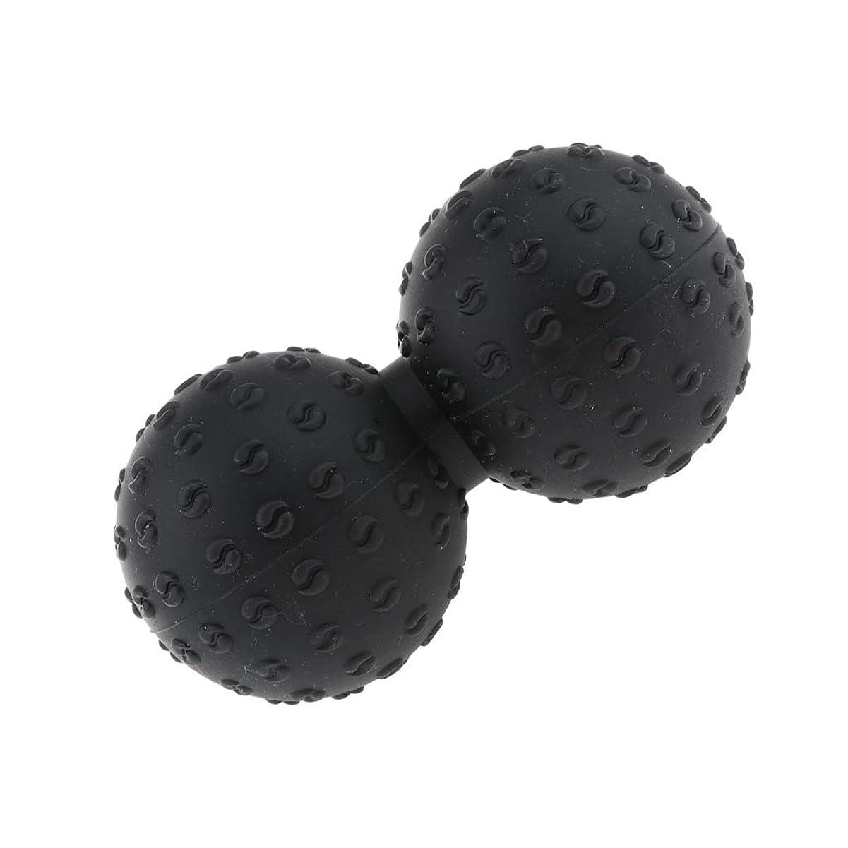 集団的メロドラマティック水分CUTICATE マッサージボール 指圧ボール シリコン ピーナッツ トリガーポイント 肩、足、腕など 解消 全6色 - ブラック, 説明のとおり