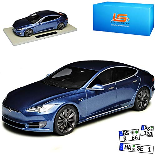 LS Collectibles Tesla Model S Grau Metallic Ab 2012 Version Ab Facelift 2016 limitiert 1 von 250 Stück 1/18 Modell Auto
