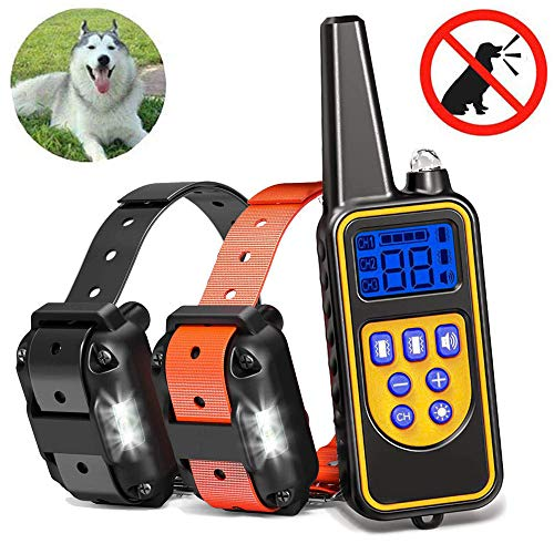 JGXRJLK Hundetraining Kleidung Krawatte Fernbedienung Anfänger, Ultraschall Hund Repeller Bark Stopper, Anti Bellen Stop Bark Dog Trainingsgerät,Two