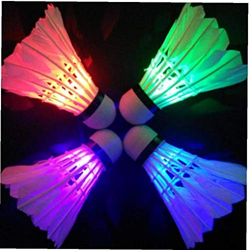 Illuminazione Badminton per Dark Night LED Colorato Sport Badminton Palla Accessori (Colore Casuale)