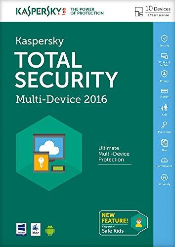 Preisvergleich Produktbild Kaspersky Total Security 2016 Multi-Device - 10 Geräte - 1 Jahr