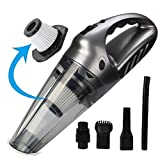 Cordless Handheld Vacuum Cleaner- Rechargeable 12V, Powerful 120W,Silent 75dB, Vacuuming Pet Hair