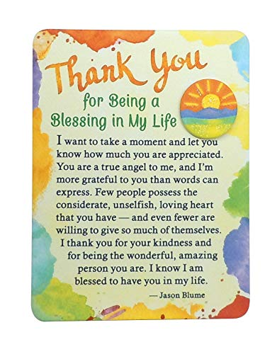Blue Mountain Arts Miniature Easel Print with Magnet 'Thank You for Being a Blessing in My Life' 4.9 x 3.6 in., Sweet 'Thank You' Gift to Express Gratitude to Someone Who Is a True Angel to You