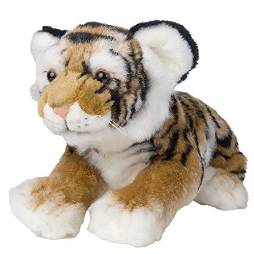 Pamer-Toys Animales de peluche, animales de peluche, bebé tigre tumbado, marrón, negro y blanco