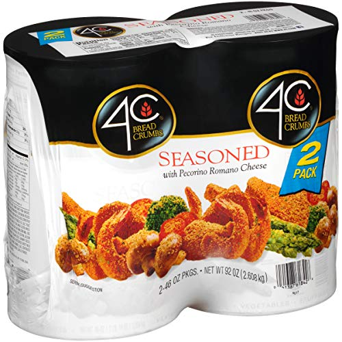 4C Premium Bread Crumbs | Regular & Gluten Free | Flavorful Crispy Crunchy | Value Pack (Seasoned, 2pk)