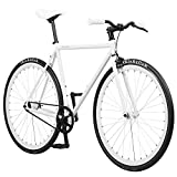 Pure Fix Original Fixed Gear Single Speed Bicycle, Romeo White, 50cm/Small