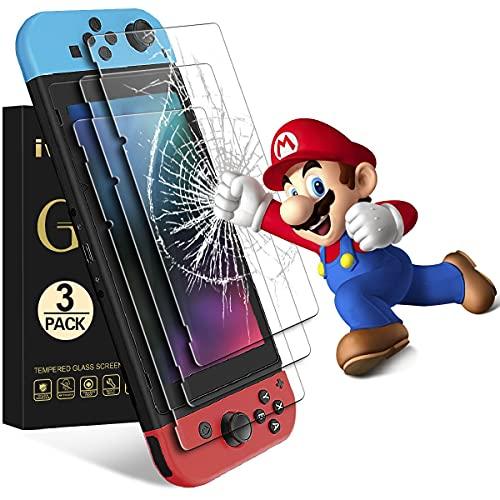 iVoler [3 Pack] Pellicola Vetro Temperato per Nintendo Switch, Pellicola Protettiva Protezione per Schermo per Nintendo Switch