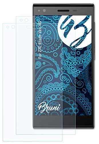 Bruni Schutzfolie kompatibel mit ZTE Blade Vec 4G Folie, glasklare Bildschirmschutzfolie (2X)